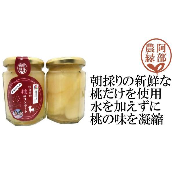 【桃のコンポート200g】朝採りの新鮮な福島県産の桃2個分を贅沢に使用 贈答・ギフトに ふくしまプライド。体感キャンペーン(その他)