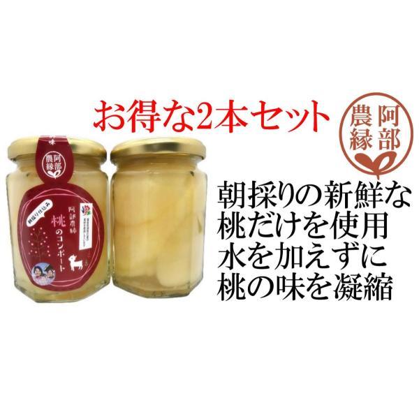 【桃のコンポート200gお得な2個セット】朝採りの新鮮な福島県産の桃2個分を贅沢に使用 贈答・ギフトに