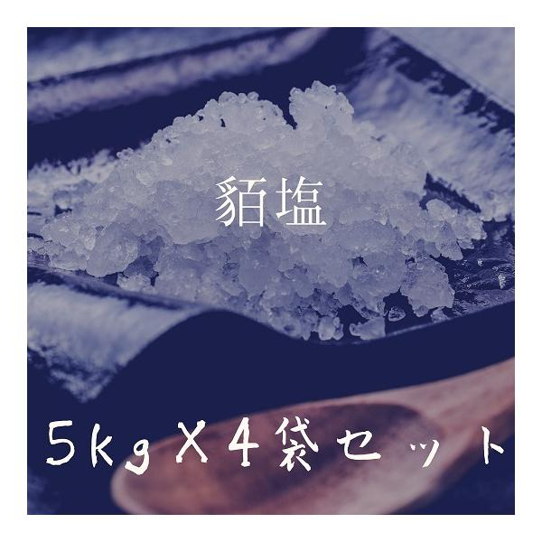 お徳用ギリシャ産無添加貊塩つぶセット(5kg×4袋)|fukui-koshino