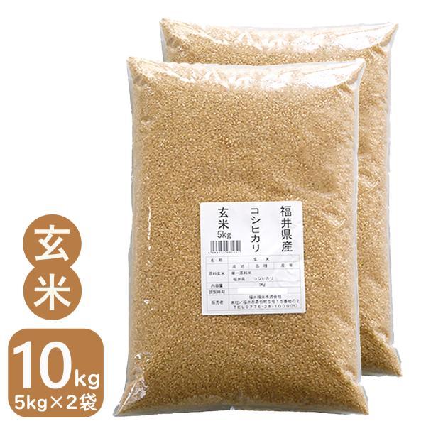 新米 玄米 10kg お米 コシヒカリ 5kg×2袋 令和3年産 福井県産 送料無料