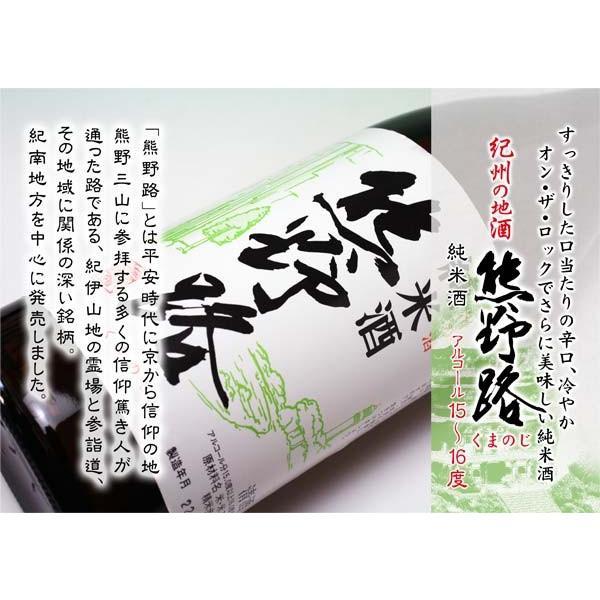 取り寄せ 清酒純米酒熊野路720ml箱入り