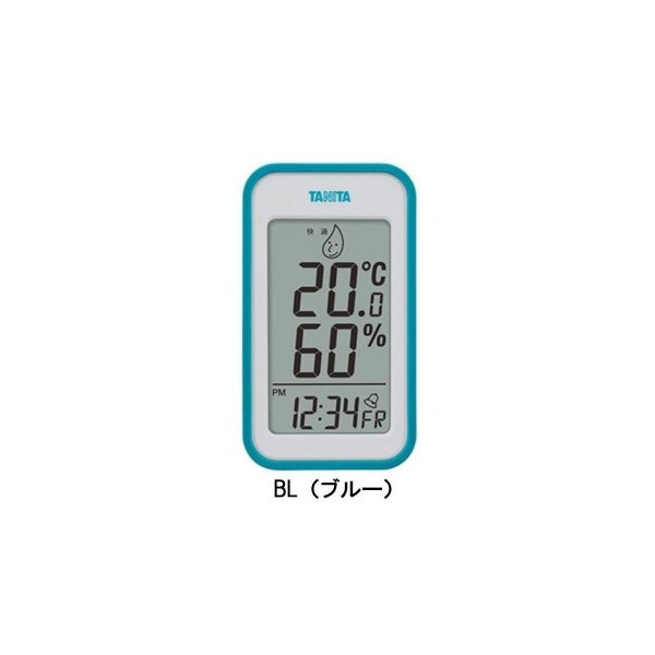 TANITA タニタ デジタル温湿度計 TT-559 BL・TT-559-BL おしゃれ 温度計 湿度計