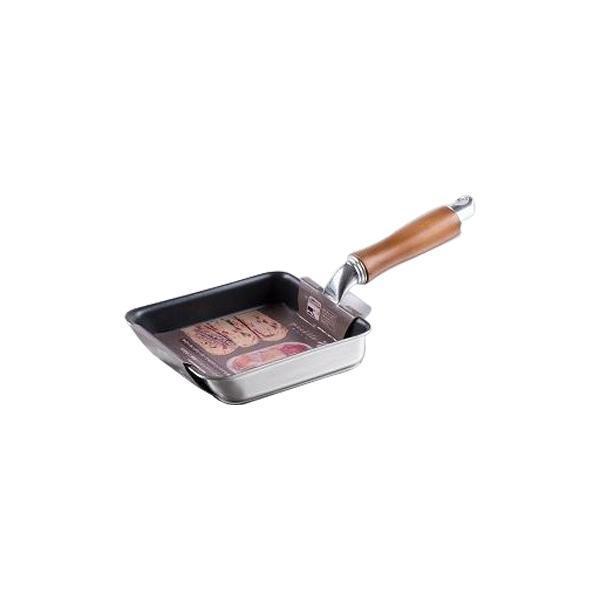 ピコット IH対応二層鋼ミニエッグパン 12×14cm MB-1203 小さめ 小さい 玉子焼き