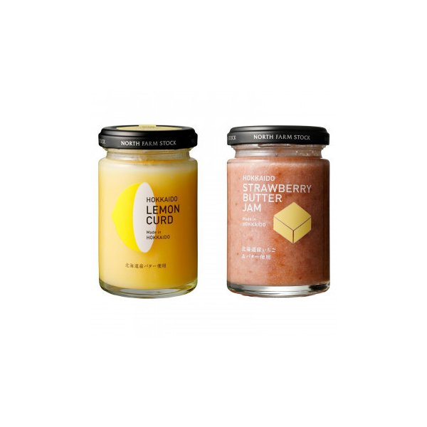 ノースファームストック 北海道レモンカード・いちごバタージャム 130g 2種セット 各6個 白亜ダイシン