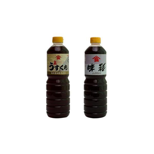 橋本醤油ハシモト 1000ml2種セット(上級薄口うすくち醤油・高級だし入り醤油 味彩(あじさい)各6本)