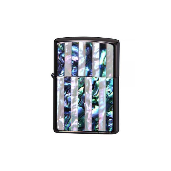ZIPPO(ジッポー)ライター SHELL INLAY ストライプ柄貝貼り 2BKSHELL-ST