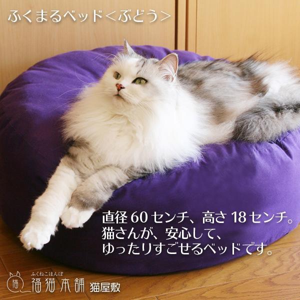 ふくまるベッド ぶどう 猫さんの大型ベッド|fukunekohonpo