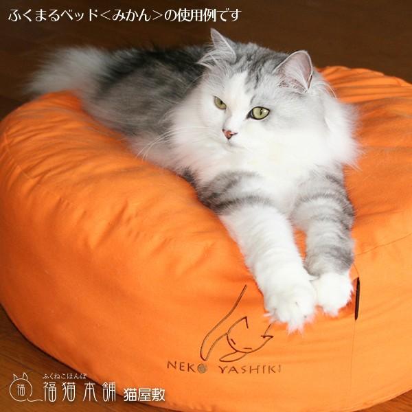 ふくまるベッド みどり 猫さんの大型ベッド fukunekohonpo 06