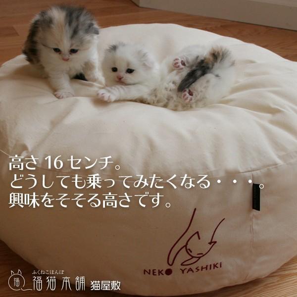 ふくまるベッド 生成り 猫さんの大型ベッド|fukunekohonpo|06