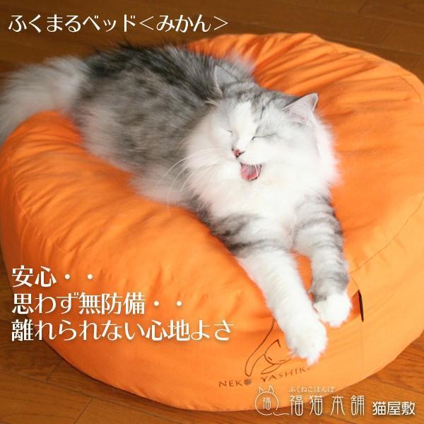ふくまるベッド みかん 猫さんの大型ベッド|fukunekohonpo|02