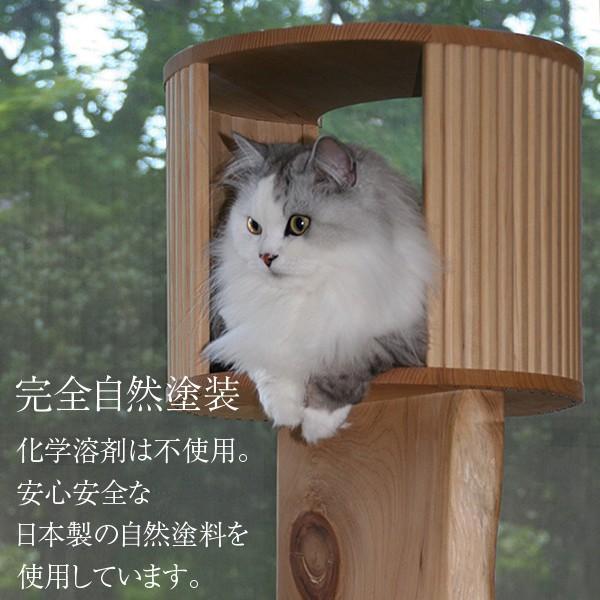 キャットツリーひぐらし 支柱1本 ハウス付きタイプ|fukunekohonpo|04