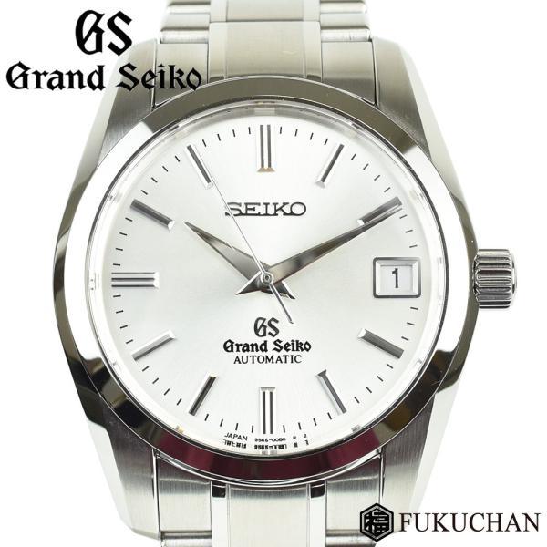 GRAND SEIKO/グランドセイコー 9Sメカニカル メンズ ウォッチ シルバー文字盤/SS×AT SBGR051 9S65 00B0 中古≪送料無料≫