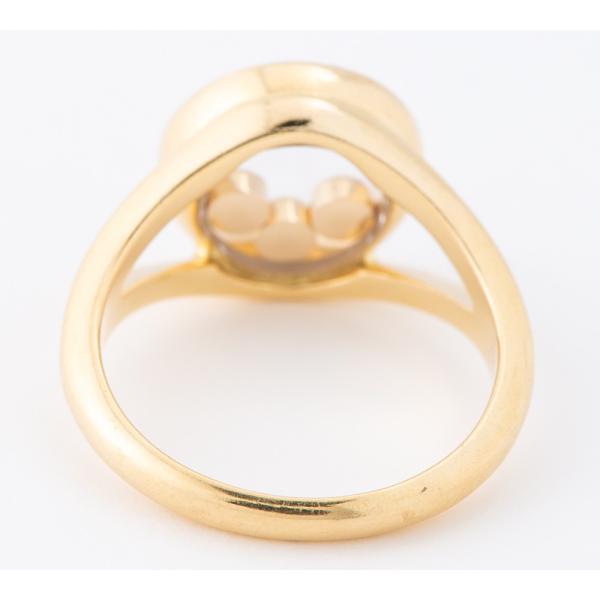 ショパール ハッピー 3Pムーブ ダイヤモンド 18金イエローゴールド 11号 リング・指輪【中古】