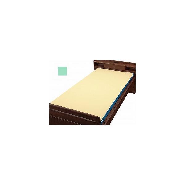 ウェルファン ベッドパッド型防水シーツ グリーン W