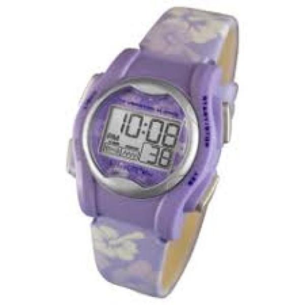 自立コム 振動腕時計 バイブラライトMini 紫花柄 VM-LPL|fukushikun