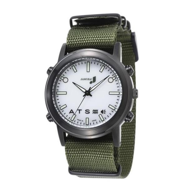 自立コム 振動腕時計 SAMURAI MAX カジュアルホワイト 白 J-SMAX_CW|fukushikun