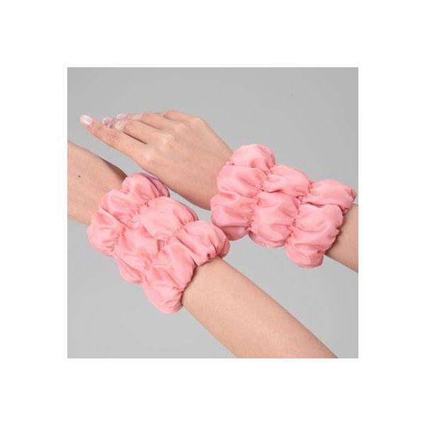 オーラ岩盤手足あったかウォーマー ピンク 手首・足首・甲まわりの寒さ対策に オーラ蓄熱繊維(P10)|fukushikun