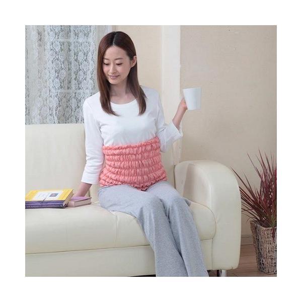 オーラ蓄熱繊維足湯気分 腹巻岩盤浴ウォーマー ピンク 富士パックス (P15)|fukushikun