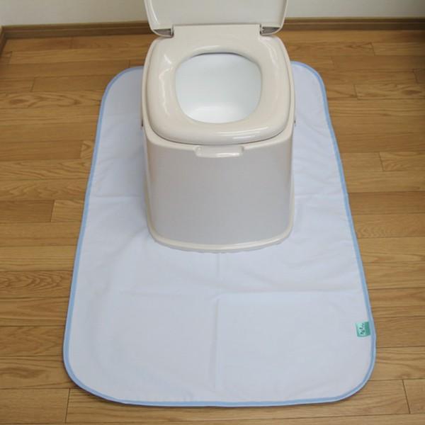 トクナガ 消臭達人 簡易トイレ用防水マット ブルー WFSTKTBMT-1-BL