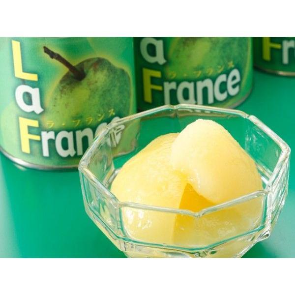 国産ラ・フランス缶詰5号缶 お歳暮/贈答品/ギフト/福島/送料込 ふくしまプライド