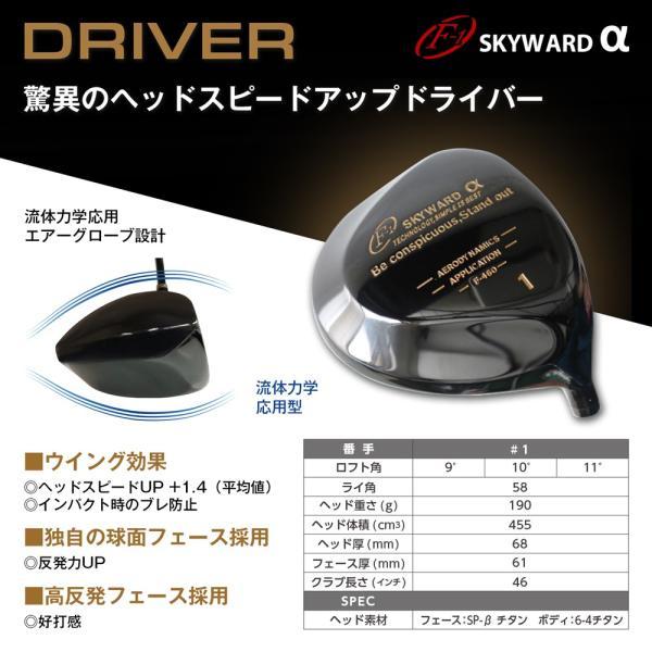 [工房直送!]F-1 SKYWARD αドライバー SKYWARD TOURシャフト仕様 地クラブ|fukuyamagolf|02