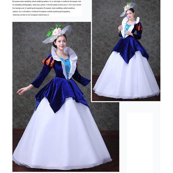 281b8b436e590 ... バルーンスリーブ ドレス オペラ声楽 中世貴族風豪華お姫様ドレス 舞台衣装やステージ衣装 ...