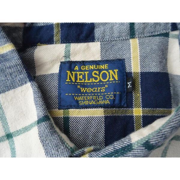 FULLNELSON フルネルソンオリジナル ウエスタンネルシャツ NAVY/BEIGE|fullnelsonhalf|06