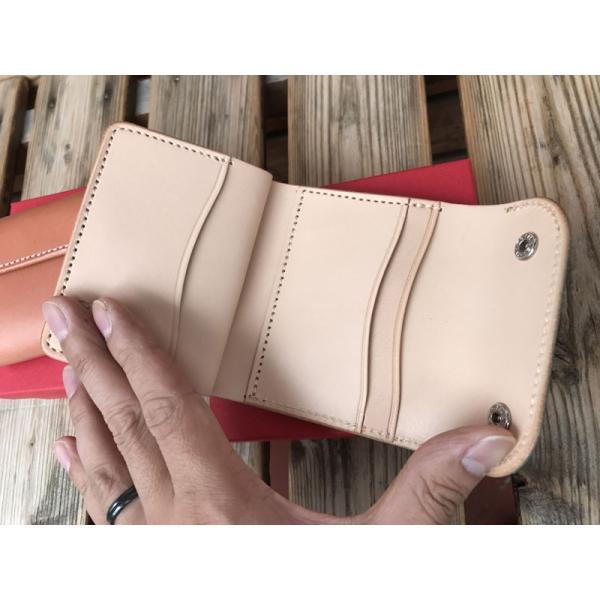 限定カラー OPUS mini Wallet オーパス コンパクト ウォレット ブッテーロレザー PINK& TURQUOISE|fullnelsonhalf|02