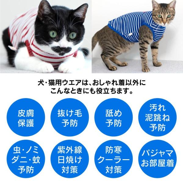 【猫ウエア体験!ネコポス送料込み!】【2019年夏新作】ひんやり接触冷感ネコ用ボーダータンク【ネコポス値2】|fullofvigor-yshop|12