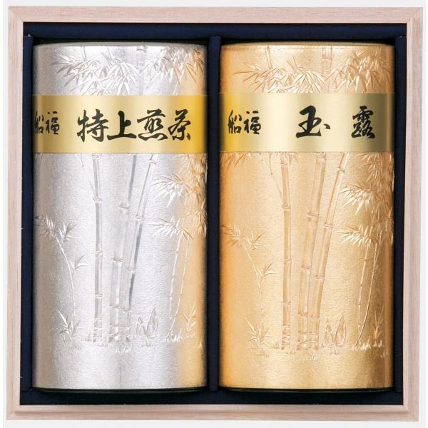 特蒸玉露・特上煎茶彫刻缶詰合せ|funafuku