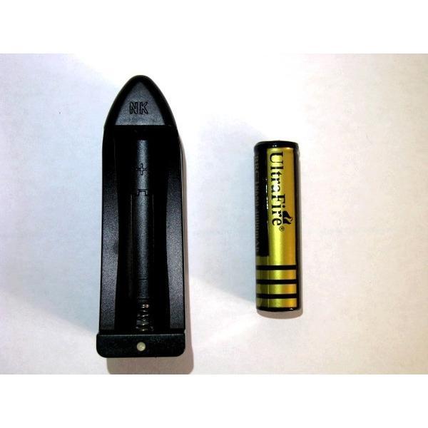 BRC18650 リチウムイオン電池+専用充電器 Ultrafire 大容量4000mAhバッテリー 充電池 ウルトラファイアー ウルトラファイヤー|funks-store|02