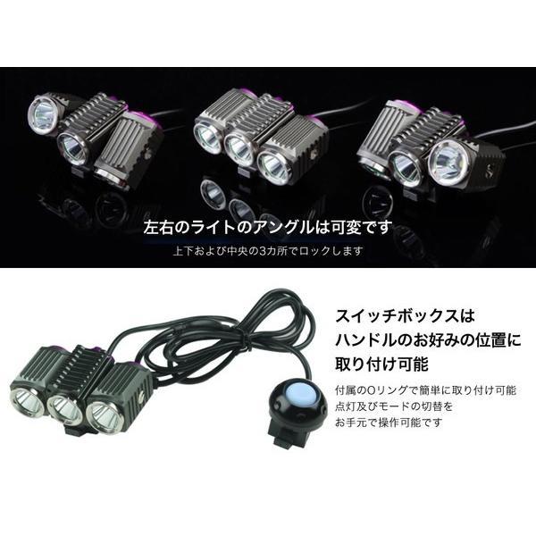 TrustFire 自転車用 LEDライト ヘッドライト TR-D012 トラストファイヤー トラストファイアー IPX4 生活防水 防塵 充電式|funks-store|03