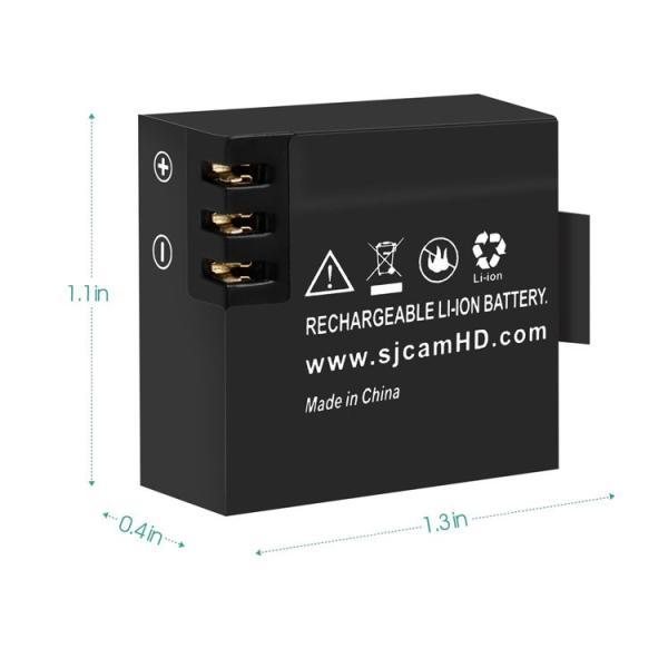 SJCAMバッテリー 【正規品】 SJ4000/SJ5000X/SJ5000 Plus対応 OEMスポーツカメラ汎用 3.7V/900mAh リチウム電池  SJBT900