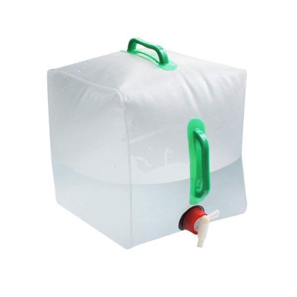 防災グッズ 折りたたみ ポータブル水袋 コンパクト 持ち運び便利 大容量20L 繰り返し使用  アウトドア 災害等 グッズ 貯水 非常用給水袋 ポリタンク AT6633