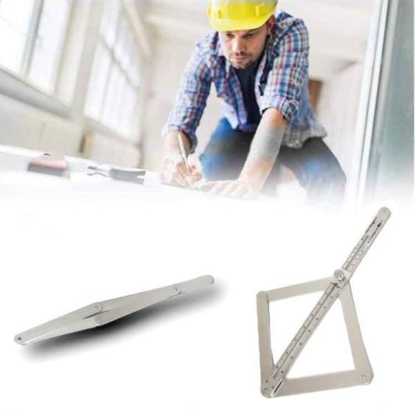 多機能スケール 角度計 分度器 アルミ合金 防錆 角度目盛り付き 建築用 木工ツール 定規 角度 測定に スライド式 調節可能 折畳可 収納便利 木工測定に RMT3817