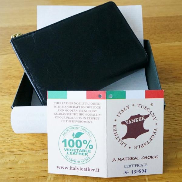 115【送料無料】財布 メンズ 二つ折り 本革 L字ファスナー イタリアンレザー】|funny-gift|04