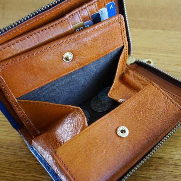 115【送料無料】財布 メンズ 二つ折り 本革 L字ファスナー イタリアンレザー】|funny-gift|05