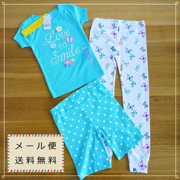 53 カーターズ 水玉 蝶 女の子 パジャマ 3T 4T 5T メール便 送料無料|funny-gift