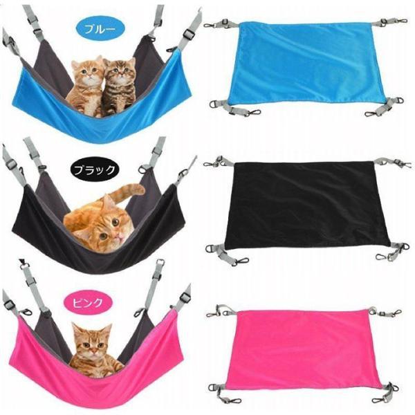 ペット 猫 用 ハンモック 2way ねこ ネコ キャット ワイドサイズ マット ベッド ケージ 大判|funny-store|05