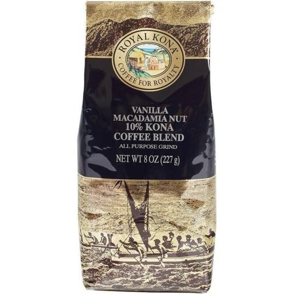 コーヒー フレーバー ロイヤルコナ バニラマカダミアナッツ 227g 粉