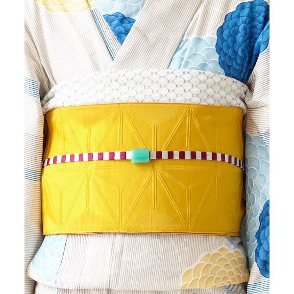ふりふ 浴衣 帯 レディース 兵児帯 レディース 単品 浴衣帯「サークルレースヘコ」へこ帯 飾り帯 付け帯 日本製 ゆかた 無地 レース ボーダー ポップ レトロ