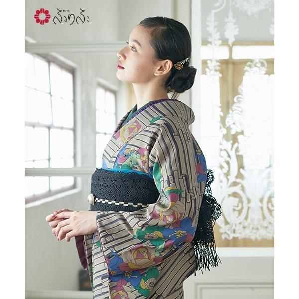 小紋「BOOK」 小紋 ふりふオリジナル 着物 キモノ きもの kimono 卒業式 パーティー 2次会 仕立て上がり プレタ フリーサイズ レトロ