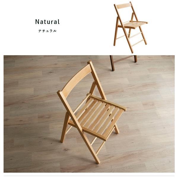 折りたたみ チェア 椅子 イタリア製 木製 折り畳み おしゃれ 木製チェア 折りたたみ椅子(A)イス 北欧 コンパクトチェア ナチュラル ウォールナット ホワイト furnbonheur 02
