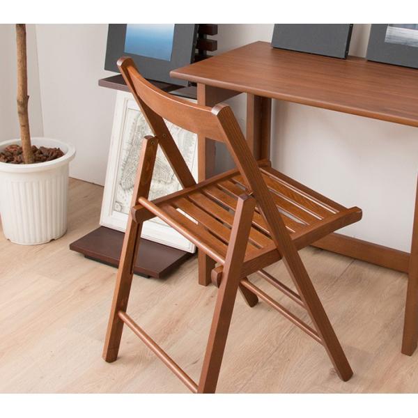 折りたたみ チェア 椅子 イタリア製 木製 折り畳み おしゃれ 木製チェア 折りたたみ椅子(A)イス 北欧 コンパクトチェア ナチュラル ウォールナット ホワイト furnbonheur 18