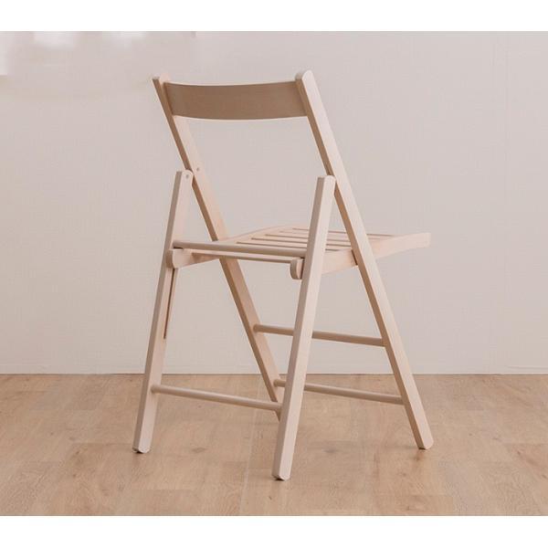 折りたたみ チェア 椅子 イタリア製 木製 折り畳み おしゃれ 木製チェア 折りたたみ椅子(A)イス 北欧 コンパクトチェア ナチュラル ウォールナット ホワイト furnbonheur 20