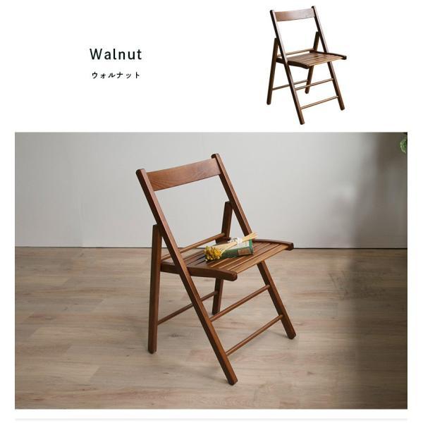 折りたたみ チェア 椅子 イタリア製 木製 折り畳み おしゃれ 木製チェア 折りたたみ椅子(A)イス 北欧 コンパクトチェア ナチュラル ウォールナット ホワイト furnbonheur 03
