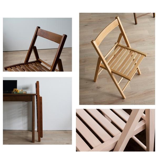 折りたたみ チェア 椅子 イタリア製 木製 折り畳み おしゃれ 木製チェア 折りたたみ椅子(A)イス 北欧 コンパクトチェア ナチュラル ウォールナット ホワイト furnbonheur 06