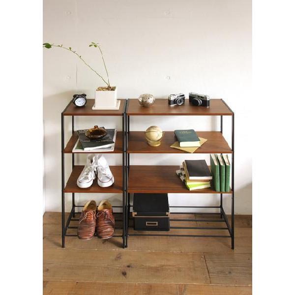 アンセム 4段ラック スリム ウオールナット材とスチール|furniture-direct|04