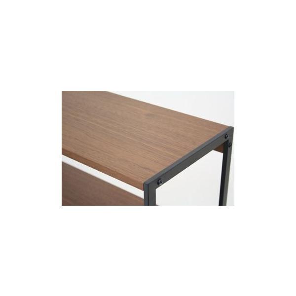 アンセム 4段ラック スリム ウオールナット材とスチール|furniture-direct|06
