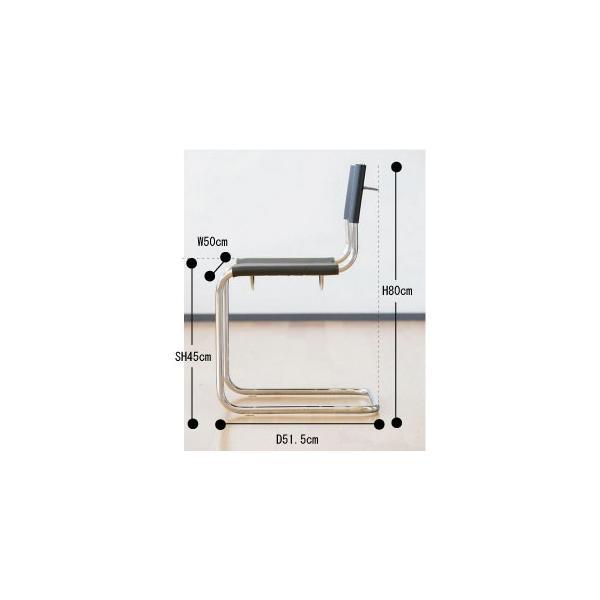 ダイニングチェア アームレスチェア キャンティレバーチェア カンチレバー 肘なし|furniture-direct|08